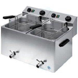 RedFox Fryer electric 7 + 7 L | Three-phase | basket 2x 21x23,5x10 cm
