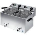 RedFox Electric Fryer 10 + 10 L | Three-phase | 2x basket 30x24x12 cm