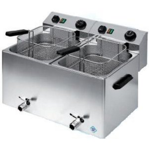 RedFox Electric Fryer 10 + 10 L | Three-phase | 2x basket 30x24x12 cm