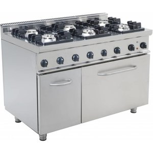 Saro Gas cooker with electric oven GN 2/1 | 6 burners
