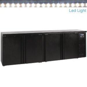 Diamond Stół chłodniczy barowy - 4 drzwiowy - 2542x513x860 - 630 litrów