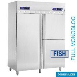 Diamond Fisch-Kühlschrank und Gefrierschrank mit Belüftung - 3 Tür - 2x350 l
