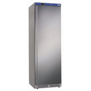Diamond Fan assisted refrigerator, 400 liters. Outside stainless steel