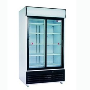 Diamond Drink display double sliding doors, 875 liters