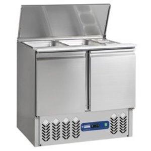 Diamond Refrigerated saladette 2x GN 1/1 + 3x GN 1/6 - 150 mm, saladette well 2 doors GN 1/1, 240 liters