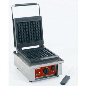 "Diamond Electrical waffle iron 2 pcs ""Liège model 4x6 """