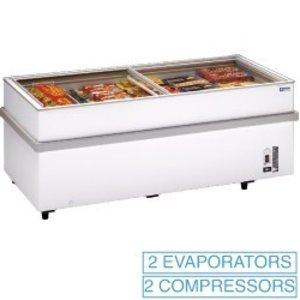 Diamond Panoramic deep freezer 2 compressors, 1 temperature