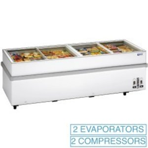 Diamond Panorama-Tiefkühltruhe, 2 Kompressoren, 2 Temperatur