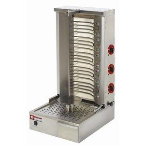 Diamond Kebab Gazowy elektryczny | 55 kg
