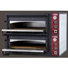 Diamond Elektrobackofen für Pizza 2 x 4 Pizzen | 660x660x150 mm
