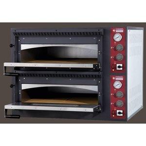 Diamond Elektrische oven voor pizza 2 x 4 pizza's | 660x660x150 mm