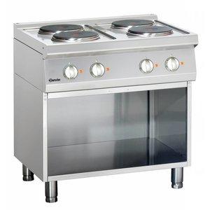 Bartscher 4-płytowa kuchnia elektryczna z podstawą otwartą seria 700