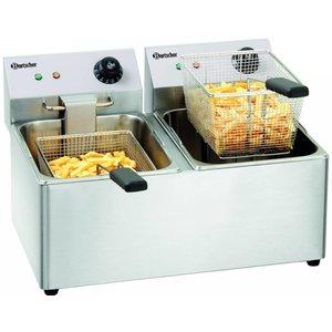 Bartscher Double Fryer | 2 x 8L
