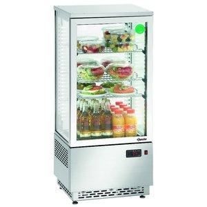 Bartscher Refrigerated Mini stainless steel | 78l