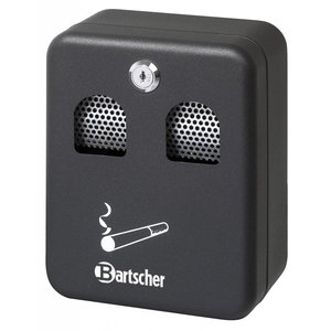 Bartscher Wall-mounted ashtray, black