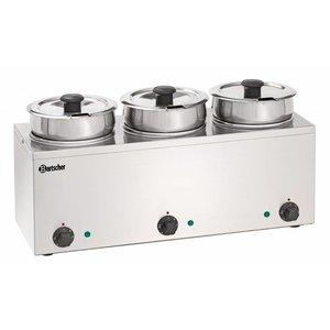 Bartscher Hotpot - Bain-Marie - 3 x 3,5 liter