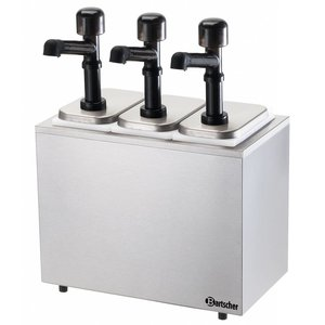 Bartscher Pump sauce dispenser, 3 dispensers/pumps