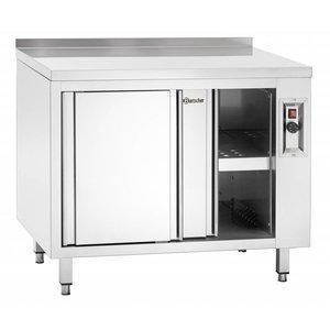 Bartscher Heated cupboard with sliding doors and intermediate shelf
