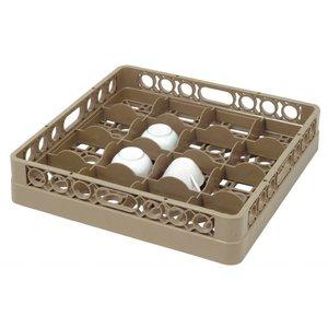 Bartscher Dishwasher basket, 16 compartments - max. height 100mm - 111x111x83mm