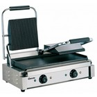 Bartscher Contact Grill double - Ribbed plates Upper, Lower Smooth | 3600W