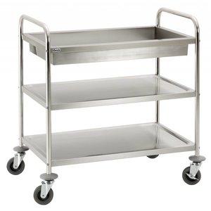 Bartscher Wózek do serwowania / transportowy z 2 półkami i głęboką półką na brudne naczynia