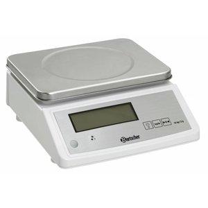 Bartscher Waga kuchenna elektroniczna - pomiar wagi do 15 kg - podziałka 2 g