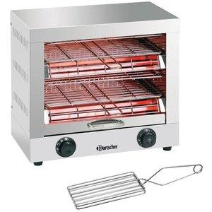 Bartscher Broodrooster / toaster dual roestvrij staal grill timerfunctie | 440x260x400 mm