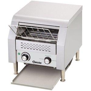 Bartscher Broodrooster-through van roestvrij staal | 150 toast / h | 368x440x385 mm