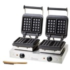 Bartscher Double waffle iron hot plates - plates Brussels