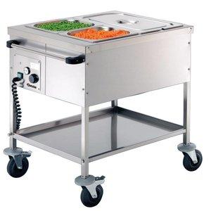 Bartscher Voedseltransportwagen - 2 x 1/1 GN, 200 mm diep