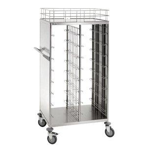 Bartscher Wózek do transportu pojemników i tac stołówkowych   16x 443x343mm   925x620x(H)1700mm