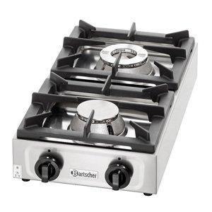 Bartscher Table top gas cooker, 2 burners