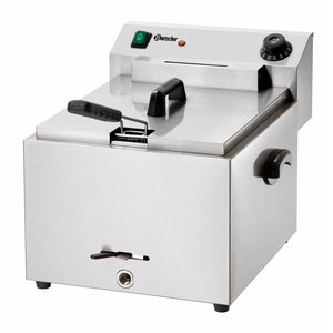 """Bartscher Electric deep fat fryer """"Imbiss PRO"""" with oil drain tap"""