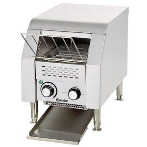 "Bartscher Broodrooster-through ""Mini"" roestvrij staal   75 toast / h   290x440x385 mm"