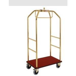 Diamond Wózek hotelowy złoty z hamulcami | 986x590xh1890 | 45 kg