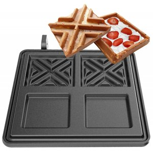 Neumarker Plate for waffle iron | X-waffel | 2 x 108x108x20 mm