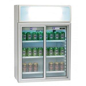 Diamond Chłodzona szafa witrynowa - drzwi szklane przesuwane -100 l