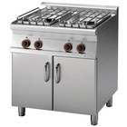 RM GASTRO Kuchnia gazowa 4-palnikowa z szafką | 22kW