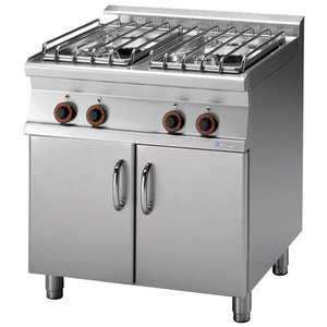 RM GASTRO Gas stove 4-burner with cabinet   22kW
