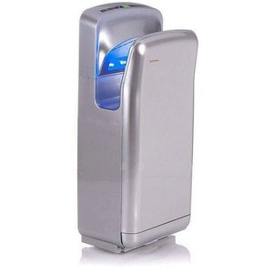 XXLselect Taschenhandtrockner Warmtec JetFlow 1650 1650W, automatische, Silber, ABS