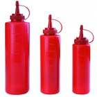 TOM-GAST Spender für Saucen | rot | Kapazität. 0,25 bis 0,7 L