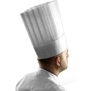 "Hendi Czapka kucharska ""LE GRAND CHEF"" | rozmiar regulowany | 280x(H)300mm"