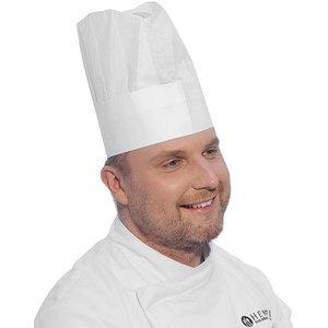 Hendi Czapka kucharska | rozmiar regulowany | 10szt. | 280x(H)230mm