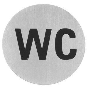Hendi Tabliczka informacyjna samoprzylepna | toaleta | śr.75mm