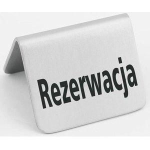Hendi Tabliczka informacyjna | rezerwacja | 4szt.