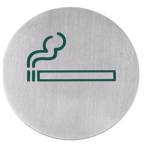 Hendi Tabliczka informacyjna samoprzylepna | miejsce przeznaczone dla palących | śr. 75mm