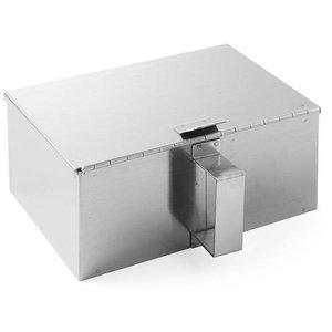Hendi Pojemnik na popiół ze stali nierdzewnej z podnoszoną pokrywką | 210x140x(H)90mm