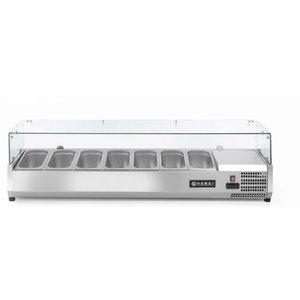 Hendi Nadstawa chłodnicza 7x GN 1/3 | 1600x395x(H)430mm
