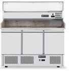 Hendi Refrigerated pizza 3-door with extension and granite countertop | 380l | 1400x700x (H) 1445mm