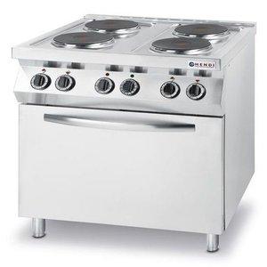 Hendi Kuchnia elektryczna 4-płytowa z piekarnikiem konwekcyjnym GN1/1 | 13,4kW | 800x700x(H)900mm
